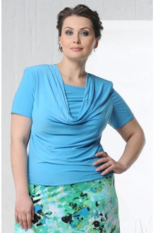 "Блуза ""Качели-2"" Лина (Голубой)"