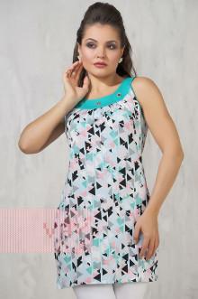 Платье женское 3301 Фемина (Уголки/ментол)