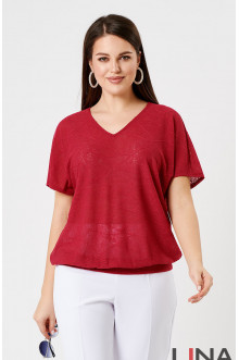 """Блуза """"Лина"""" 41132 (Красный)"""