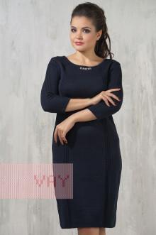 Платье женское 2228 Фемина (Темно-синий)