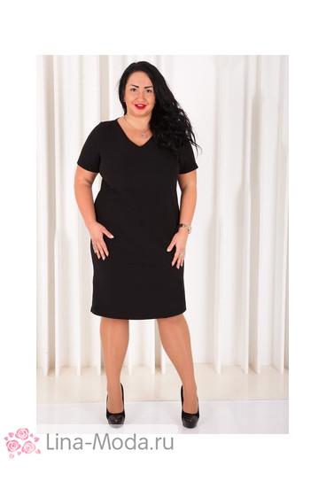 Платье 021501 ЛаТэ (Черный)